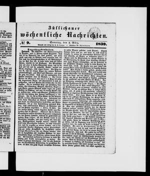 Züllichauer wöchentliche Nachrichten vom 03.03.1839