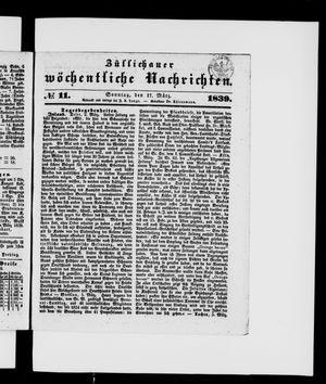 Züllichauer wöchentliche Nachrichten vom 17.03.1839