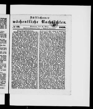 Züllichauer wöchentliche Nachrichten vom 24.03.1839