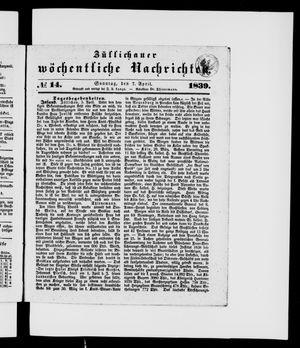 Züllichauer wöchentliche Nachrichten vom 07.04.1839