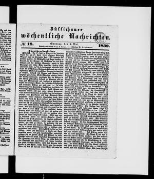 Züllichauer wöchentliche Nachrichten vom 05.05.1839