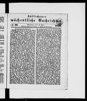 Züllichauer wöchentliche Nachrichten vom 12.05.1839