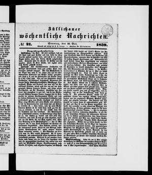 Züllichauer wöchentliche Nachrichten vom 26.05.1839