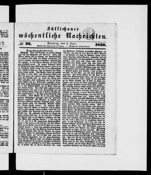 Züllichauer wöchentliche Nachrichten vom 02.06.1839