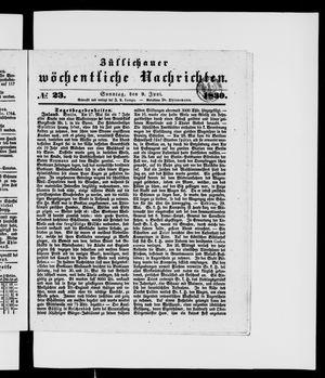 Züllichauer wöchentliche Nachrichten vom 09.06.1839