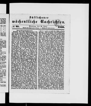 Züllichauer wöchentliche Nachrichten on Jun 23, 1839