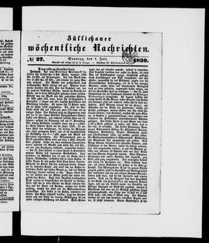 Züllichauer wöchentliche Nachrichten vom 07.07.1839