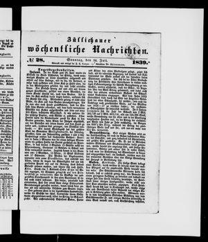 Züllichauer wöchentliche Nachrichten vom 14.07.1839
