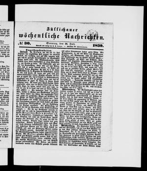 Züllichauer wöchentliche Nachrichten vom 28.07.1839