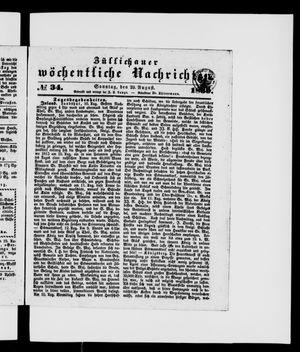 Züllichauer wöchentliche Nachrichten vom 25.08.1839