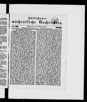 Züllichauer wöchentliche Nachrichten vom 08.09.1839