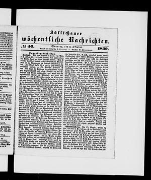 Züllichauer wöchentliche Nachrichten vom 06.10.1839