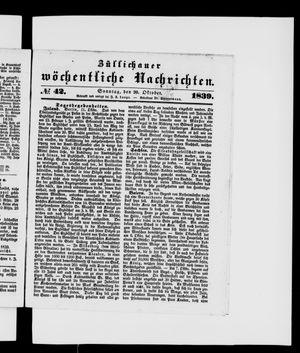 Züllichauer wöchentliche Nachrichten vom 20.10.1839