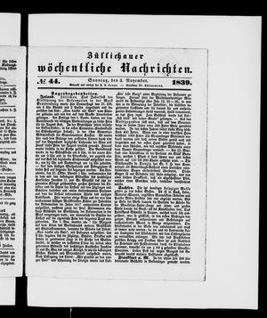 Züllichauer wöchentliche Nachrichten vom 03.11.1839
