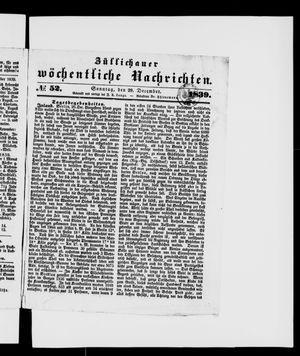 Züllichauer wöchentliche Nachrichten on Dec 29, 1839