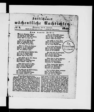 Züllichauer wöchentliche Nachrichten vom 05.01.1840