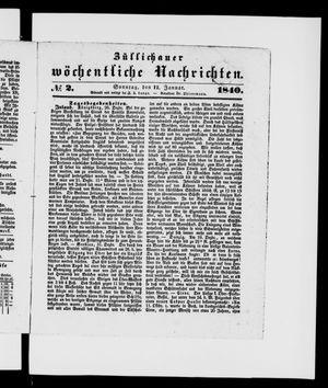 Züllichauer wöchentliche Nachrichten vom 12.01.1840