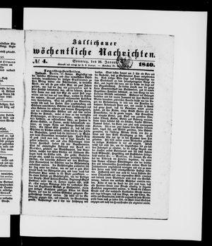 Züllichauer wöchentliche Nachrichten vom 26.01.1840