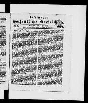Züllichauer wöchentliche Nachrichten vom 02.02.1840