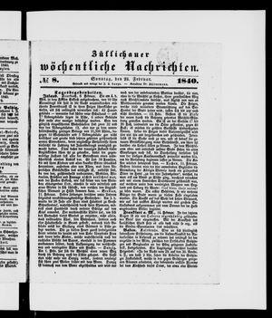 Züllichauer wöchentliche Nachrichten vom 23.02.1840
