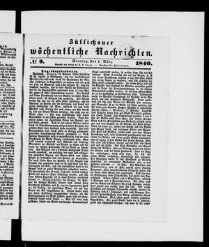 Züllichauer wöchentliche Nachrichten vom 01.03.1840