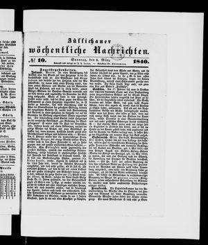 Züllichauer wöchentliche Nachrichten on Mar 8, 1840