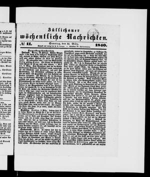 Züllichauer wöchentliche Nachrichten vom 15.03.1840