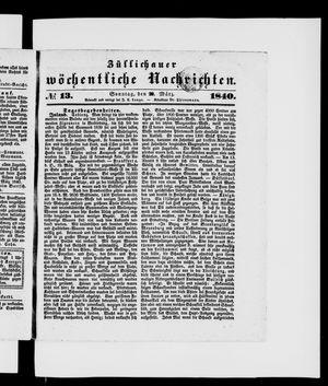 Züllichauer wöchentliche Nachrichten vom 29.03.1840