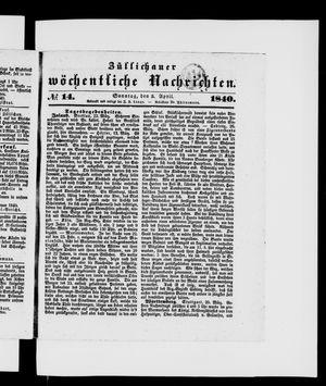 Züllichauer wöchentliche Nachrichten vom 05.04.1840