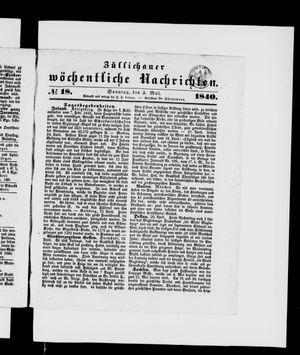 Züllichauer wöchentliche Nachrichten vom 03.05.1840