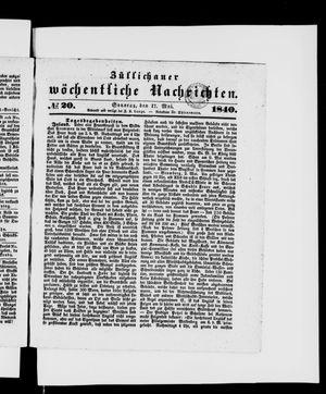 Züllichauer wöchentliche Nachrichten on May 17, 1840