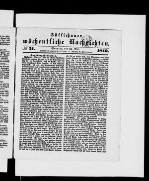 Züllichauer wöchentliche Nachrichten vom 24.05.1840