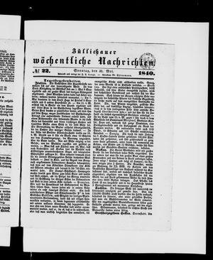 Züllichauer wöchentliche Nachrichten vom 31.05.1840