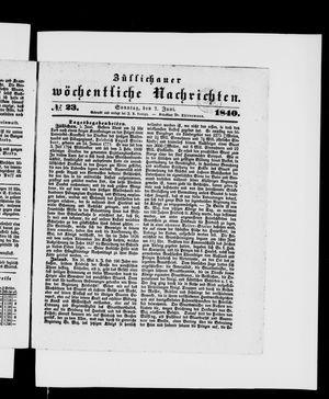 Züllichauer wöchentliche Nachrichten vom 07.06.1840
