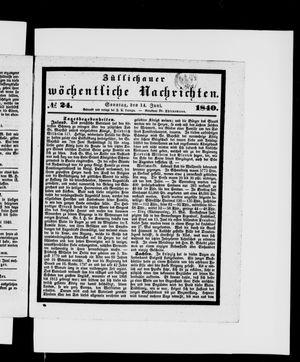 Züllichauer wöchentliche Nachrichten vom 14.06.1840