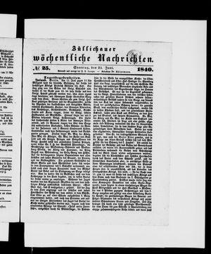Züllichauer wöchentliche Nachrichten vom 21.06.1840