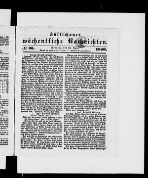Züllichauer wöchentliche Nachrichten vom 28.06.1840
