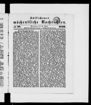 Züllichauer wöchentliche Nachrichten on Jul 12, 1840