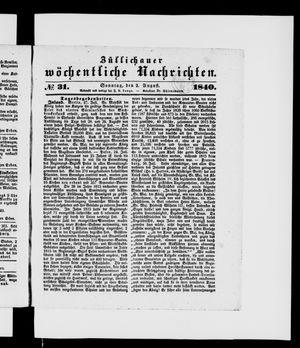 Züllichauer wöchentliche Nachrichten vom 02.08.1840