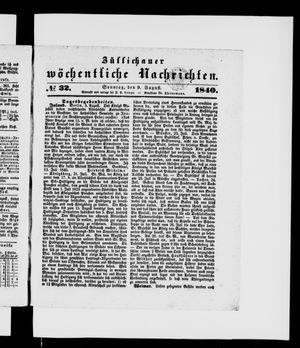 Züllichauer wöchentliche Nachrichten vom 09.08.1840