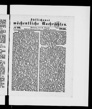 Züllichauer wöchentliche Nachrichten vom 16.08.1840