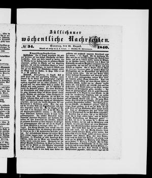Züllichauer wöchentliche Nachrichten vom 23.08.1840