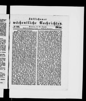 Züllichauer wöchentliche Nachrichten vom 30.08.1840