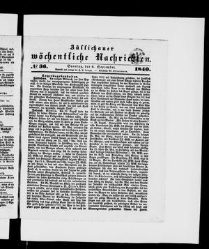 Züllichauer wöchentliche Nachrichten on Sep 6, 1840