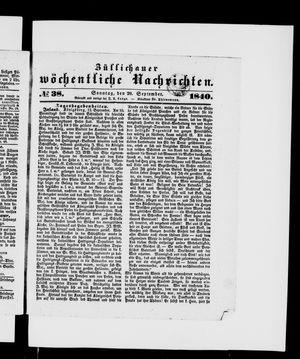 Züllichauer wöchentliche Nachrichten vom 20.09.1840
