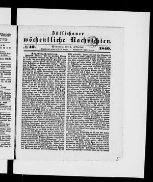 Züllichauer wöchentliche Nachrichten vom 04.10.1840