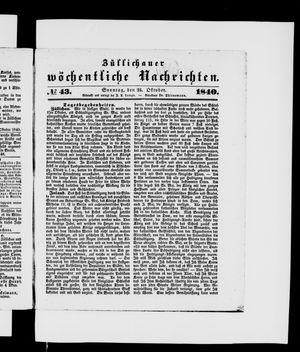 Züllichauer wöchentliche Nachrichten vom 25.10.1840