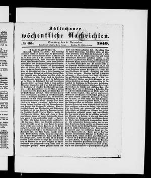 Züllichauer wöchentliche Nachrichten on Nov 8, 1840