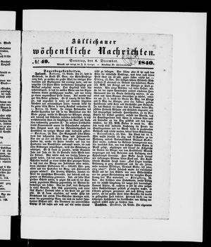 Züllichauer wöchentliche Nachrichten vom 06.12.1840