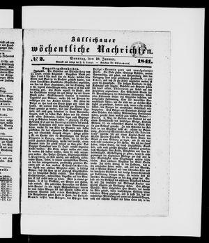 Züllichauer wöchentliche Nachrichten vom 10.01.1841